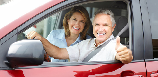 Couple With Car Insurance